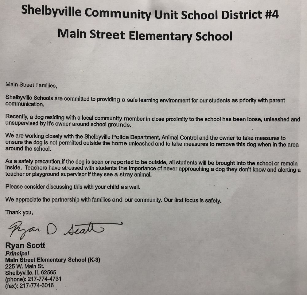 Main Street Parent Letter (4/10/19)