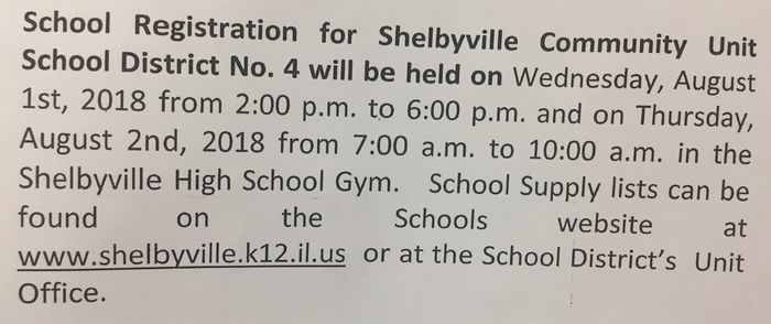 School Registration 18'-19'
