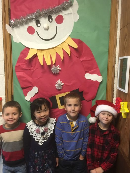 Kindergarten Gratitude Students for November