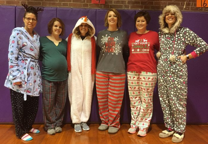 Main Street Teachers participate w/ PJ DAY