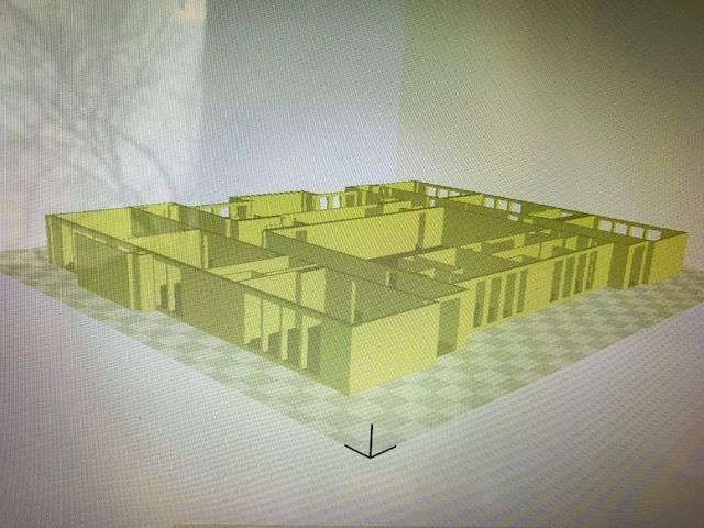 Main Street School 3-D CAD